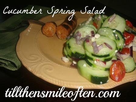 Cucumber Spring Salad