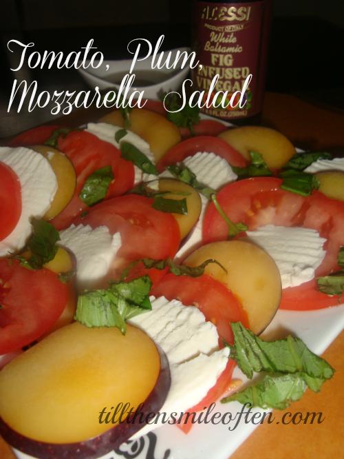 Tomato Plum Mozzarella Salad