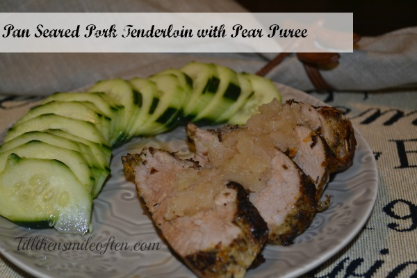 Pork Tenderloin with Pear Puree