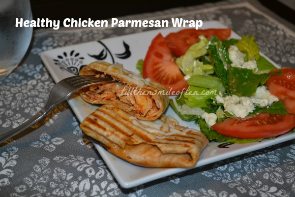 Healthy Chicken Parmesan Wrap