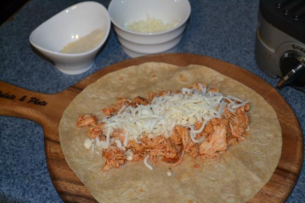 Healthy Chicken Parmesan Wrap