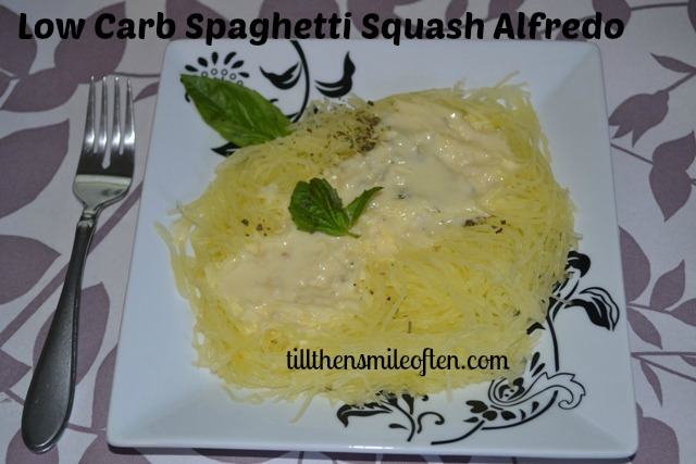 Low Carb Spaghetti Squash Alfredo