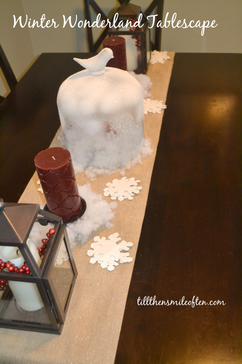 Winter Wonderland Tablescape - DIY decoration