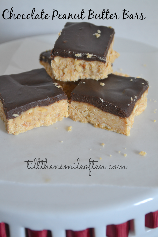 Chocolate Peanut Butter Bars - Buckeye Bars