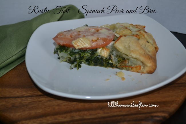 Rustic Tart - Spinach Pear and Brie