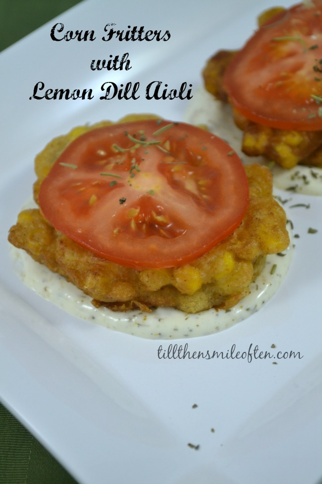 Corn Fritters with Lemon Dill Aioli