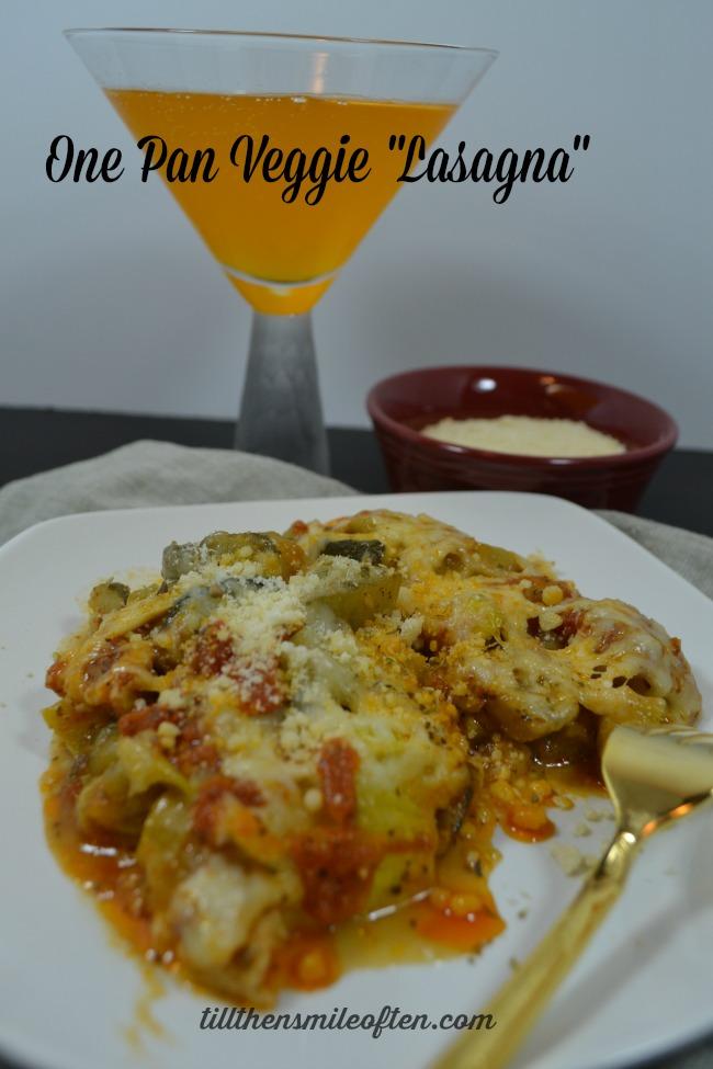 """One Pan Veggie """"Lasagna"""""""