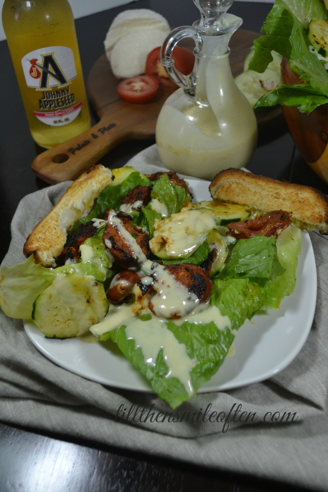 Chorizo Salad and Homemade Honey Mustard
