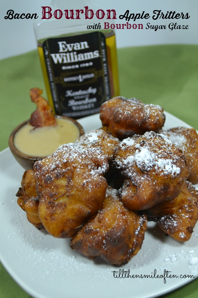 Bacon Bourbon Apple Fritters