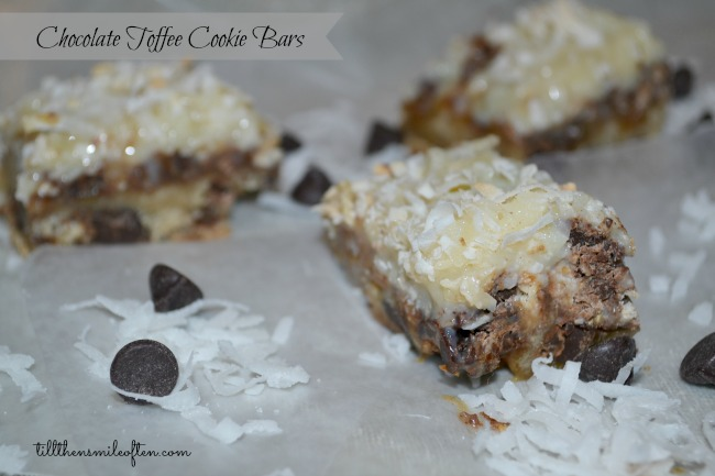 Chocolate Toffee Cookie Bars
