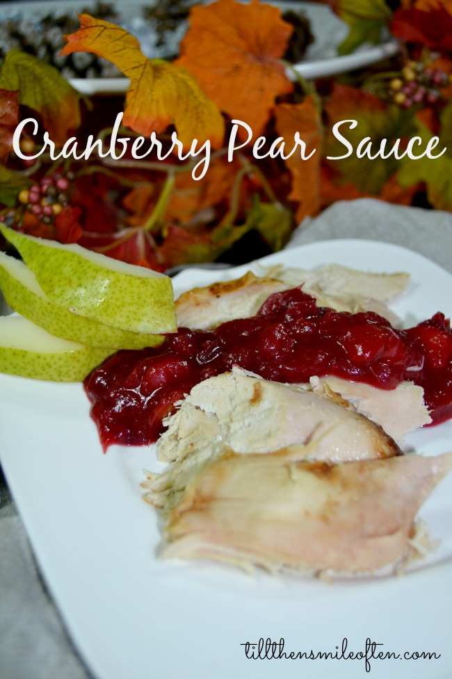 Thanksgiving Worthy Cranberry Pear Sauce