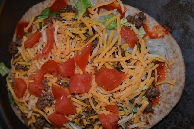 Taco Flatbread Pizza